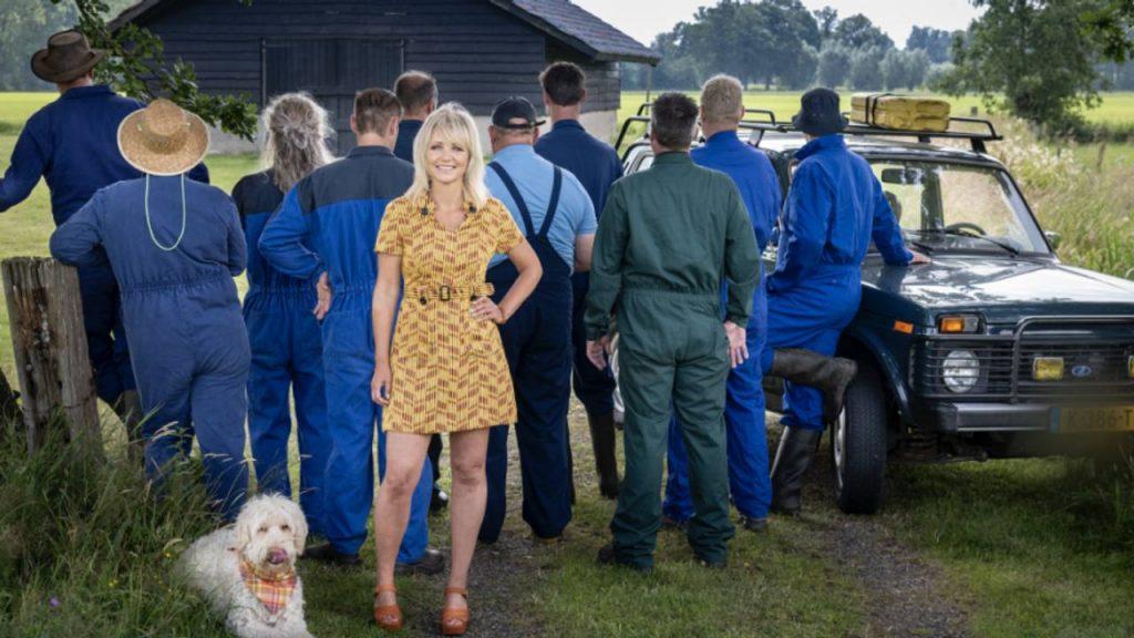 De tien deelnemende boeren. (Foto: Boer zoekt Vrouw/KRO-NCRV)