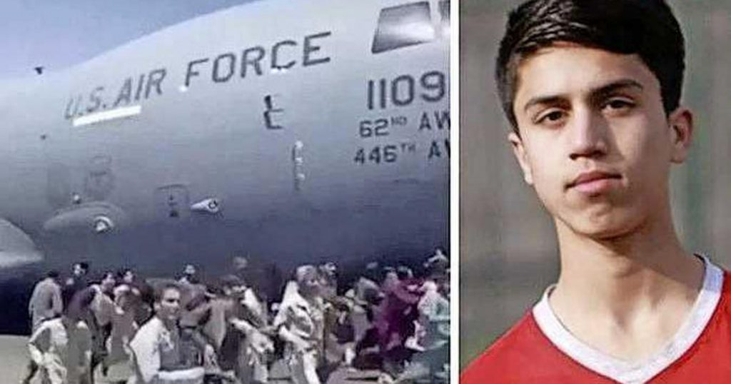 An Afghan football talent was killed during a flight from Kabul by a military plane |  football