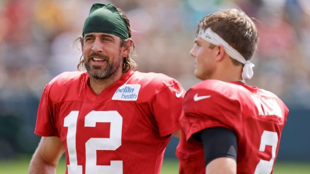 New York Jets QB Zach Wilson 'Fan Boy' About Aaron Rodgers at Green Bay Packers