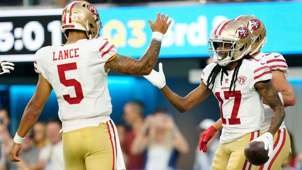 San Francisco 49ers' Trey Lance recovers from slow start to pre-season 2 game, leads 2 TD in last 3 series