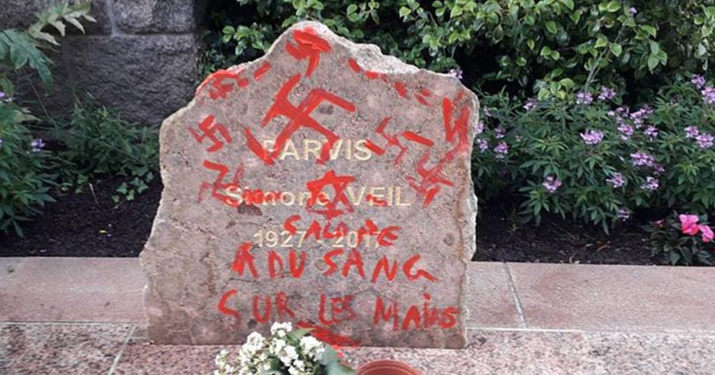 Vaccination centers in France and memorial stones smeared with Nazi slogans, mustard and droppings |  abroad