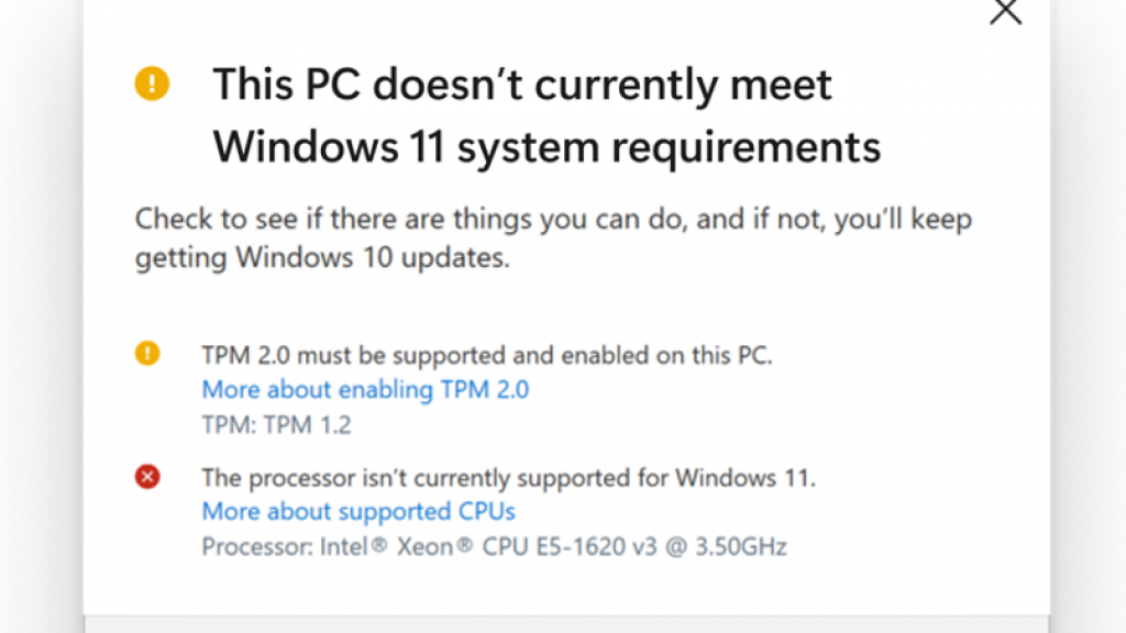 Windows 11 can only be downloaded on older systems