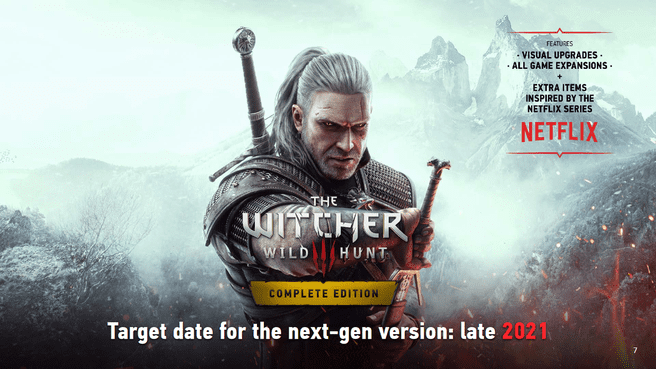 Upgrade the next generation of The Witcher 3