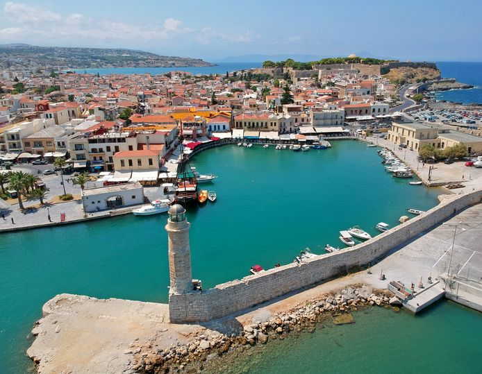 Illustrative image.  The town of Rethymnon on the Greek island of Crete.