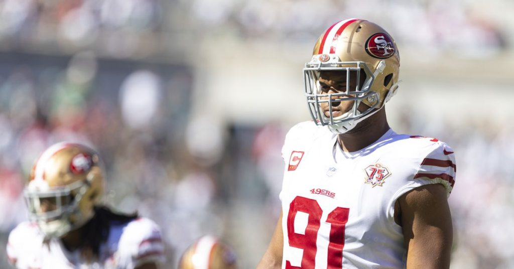 49ers-Eagles snap counts: Arik Armstead is second in the NFL in pressing average at 28.2%