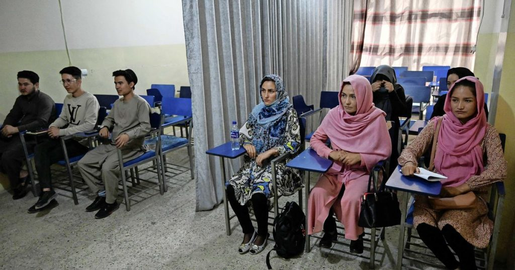 Afghan students separated from men who wear curtains at Kabul University    Abroad