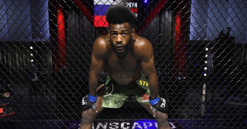 Aljamain Sterling from UFC 267 Championship fight against Peter Yan