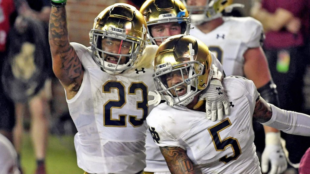 Notre Dame vs Florida score, takeaway: No. 9 Irish give up lead but outpace Seminoles in OT