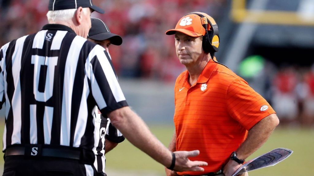 The Clemson Tigers slipped to 25th in the AP Top 25, skipping the top 10 streak