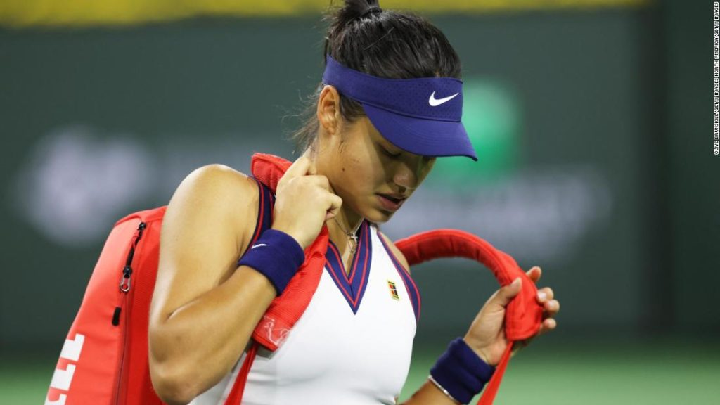 Emma Raducano says she needs to cut herself after defeating Alexandra Sasnovich in Indian Wells