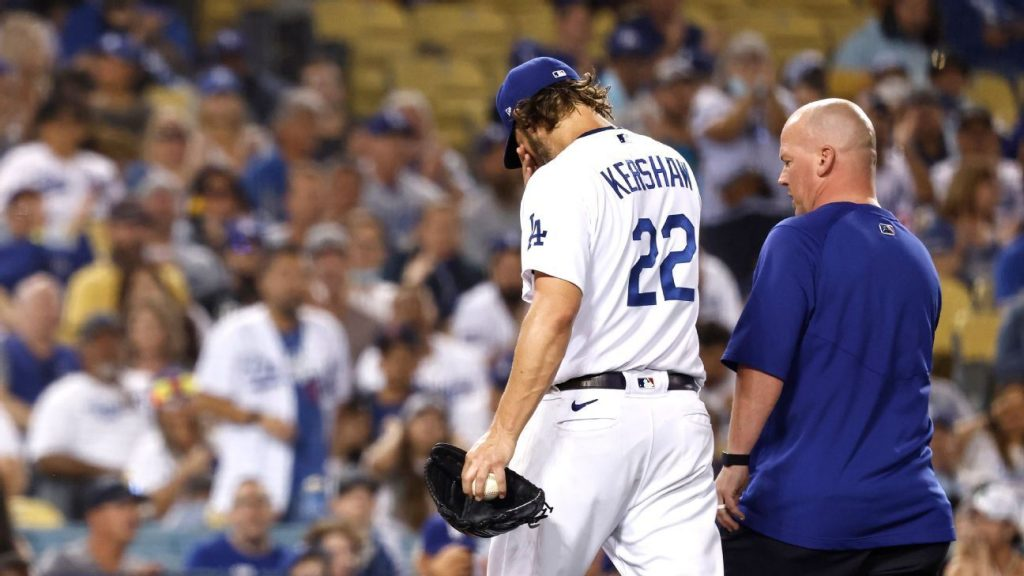 Clayton Kershaw exits from Los Angeles Dodgers vs Milwaukee Brewers start early