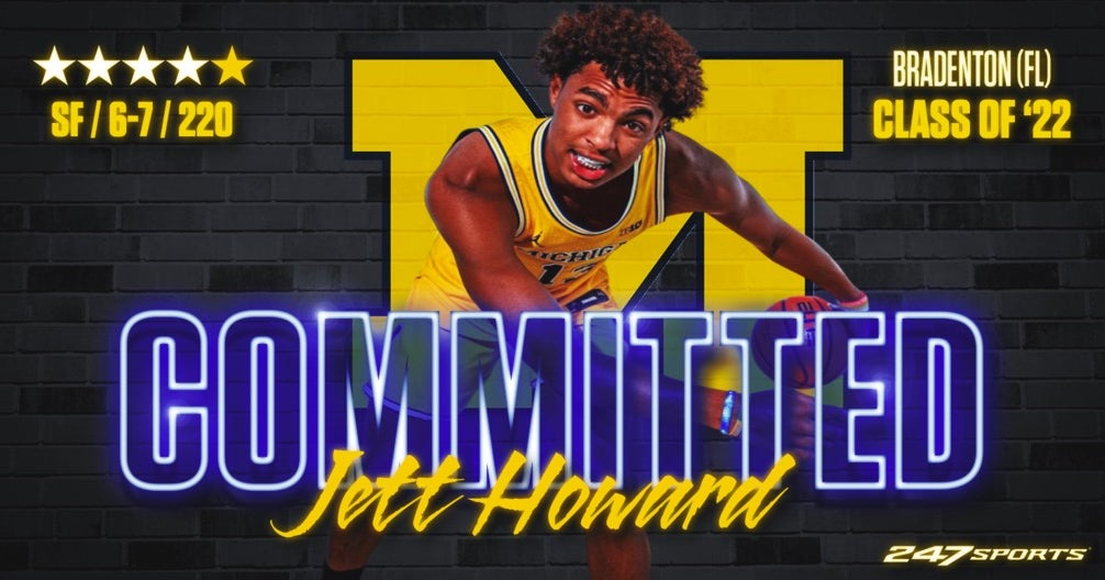 Four-star winger Jett Howard will play with his father in Michigan