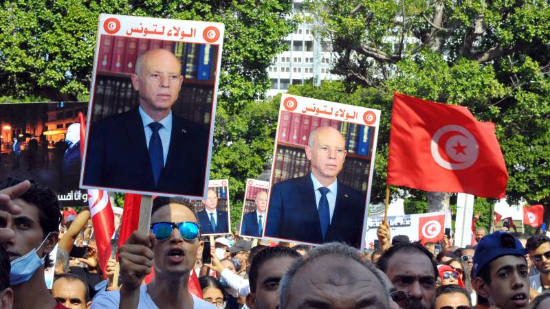 Hero or dictator?  Tunisian protesters are divided over President Said