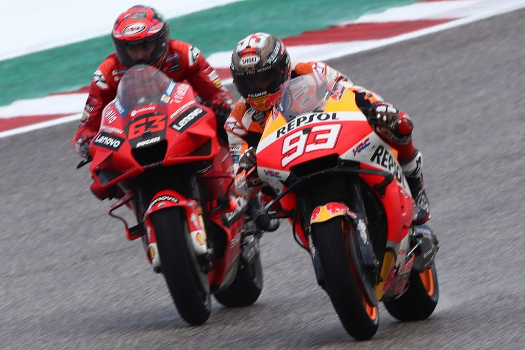 Marcus topped the first MotoGP training in the United States